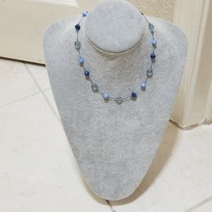 """New """"Express"""" Light blue Beaded Necklace!"""